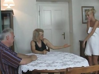 his gf and parents in awesome three people