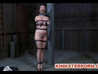 bdsm slave ash graham chained and whipped by
