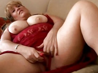 blond bbw shows off her chest