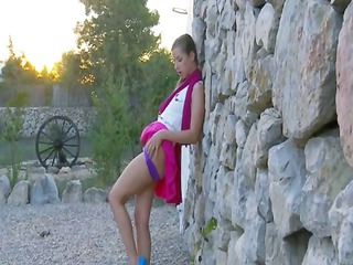 babysitter from russia getting nude openair