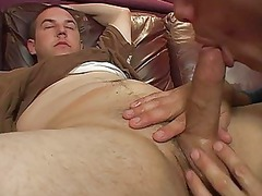 heavy gay hunk got his cock jacked and sucked