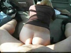 amateurs bang in car at the cemetary