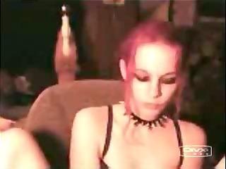 gothic slut dildoing