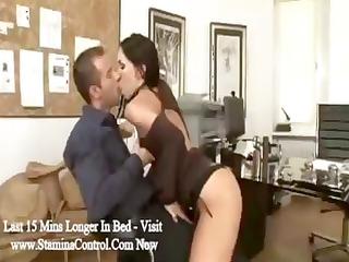 brunette associate mya diamond blows the boss and