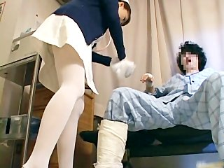 Super sexy Japanese nurses sucking part5