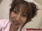 Aki Yatoh Lovely Asian nurse enjoys her