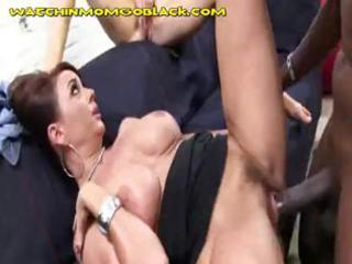 brown cock on woman and daughter
