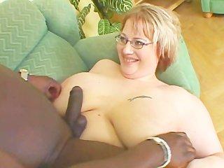 horny bbw denisa licking brown dick