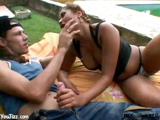 smoking brazilian babe is banged difficult next