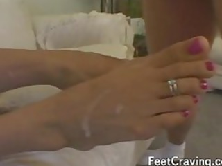 awesome sluts worship masturbating with their feet