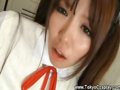 asian young acquires her navel tasted by teacher