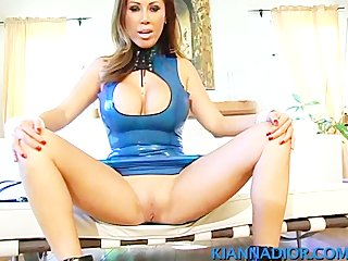 Kianna Dior - Blue latex