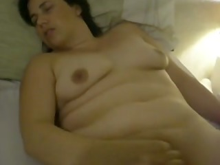 chubby girl pleases with her clit