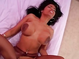 brown girl with awesome real chest licks uneasy