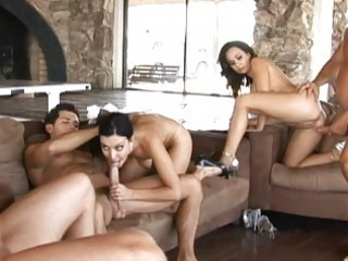 angelic naughty wifes having super  tough group