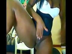 desperate black angel on webcam