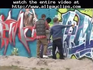 the skater gangs bunch gang-banging gay fuck gays