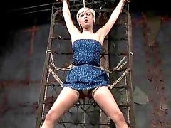 sexy super lady inside bondage act