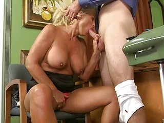 sweet giant boobed agency bitch gives her boss