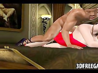 an arabian 3d guy with a huge dick fucks a amp