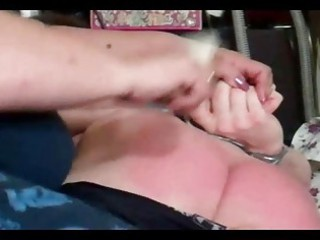 enormously busty man acquires a spanking he