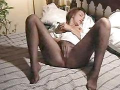 stockings masturbation