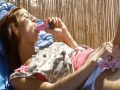 russian celebrity natasha with pink vibrator