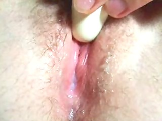 natural closeup milky gooey sex toy orgasm