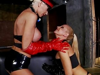 bootylicious blond homosexual woman inside ebony