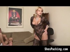 beautiful shemale enjoys banging a difficult