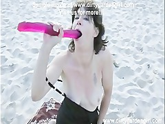 dirtygardengirl deepthroat stretched dong at the