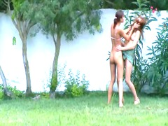 russian chicks watersports inside the outdoor