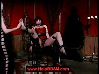 lezdom feet spanking