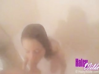 haley wilde bathroom blowjob...