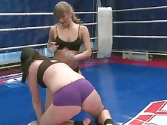 sexy american chicks into hot dike wrestling