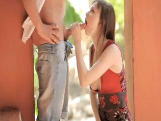 wow dream nerdy licking large penis public