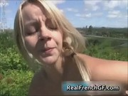 Amateur penis sucking off french girlfriend