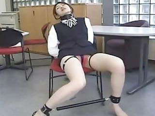 asian secretary inside bondage