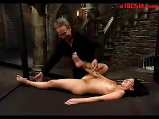 angel obtaining tied up spanked with stick cave