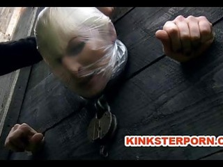 outdoor bdsm torments and humiliation of chained