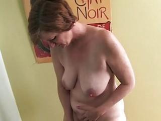woman starts to masturbate