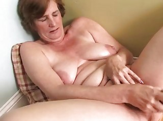 naughty wife cougar masturbation