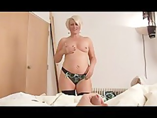 mature bimbo ruling over a cock point of view
