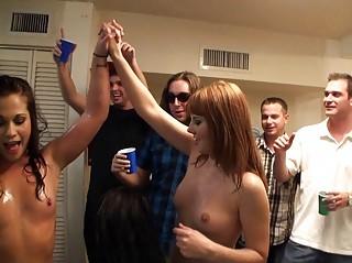 joyful young arrange group sex