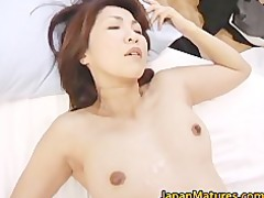 horny japanese cougar babes licking