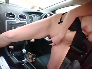 hawt bleached bonks car gear shift