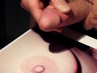 cumshots tribute: cumming on a so wonderful nipple