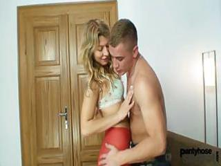 blond babe vanesa and a guy they both dressing on