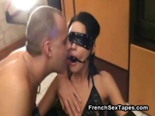 awesome french lady obtains dominated