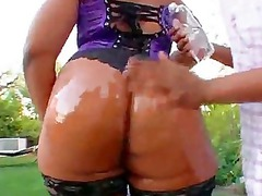 flame oiled up mature babe butt